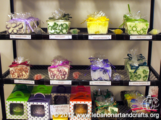 Secretary Lisa Gray made these bars of glycerin soap
