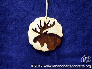 This moose ornament was made by Garrick Ippolito
