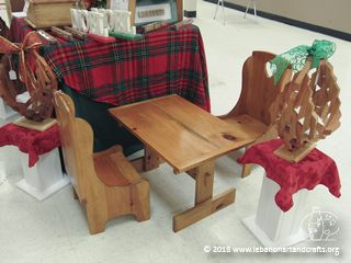 Ken Hall made this children's table and chairs