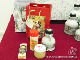 Susan Cutting produced this maple sugar gift bag and contents