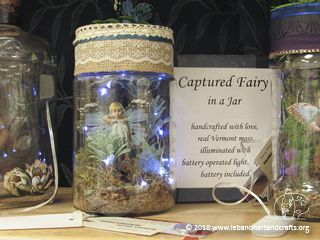 Terry Fitzpatrick created this Fairy in a Jar