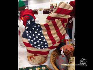 Dorothy Hayes made this patriotic rooster