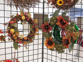 Jane Oakes made these wreaths