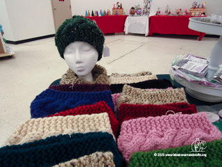 Cindy Fluette knit these headbands