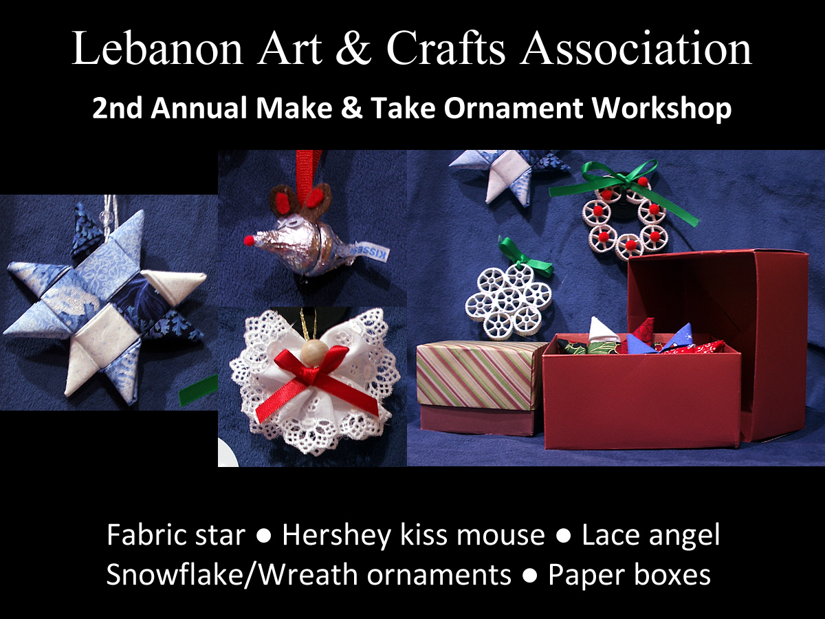Lebanon art and crafts association welcome for Make it take it crafts